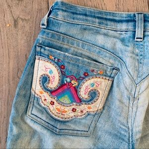 people for peace Jeans - PEOPLE FOR PEACE custom embroider blue jeans 24